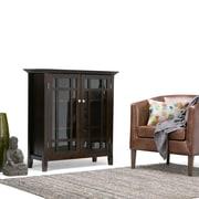 Simpli Home Bedford Medium Storage Cabinet in Tobacco Brown (3AXCBED-02)