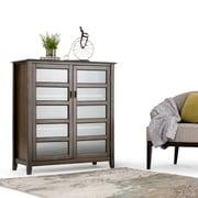 Simpli Home Burlington Medium Storage Cabinet in Espresso Brown (3AXCBUR-004)