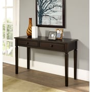 Simpli Home Connaught Console Sofa Table in Dark Chestnut Brown (3AXCCON-02)
