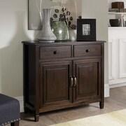 Simpli Home Connaught Entryway Storage Cabinet in Dark Chestnut Brown (3AXCCON-04)