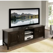 "Simpli Home Connaught 72"" Wide TV Stand in Dark Chestnut Brown (3AXCCON-07)"
