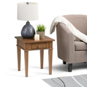 Simpli Home Carlton End Side Table in Medium Saddle Brown (3AXCCRL-03-SB)