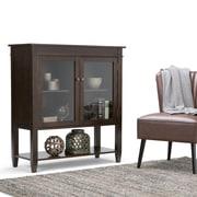 Simpli Home Carlton Medium Storage Cabinet in Tobacco Brown (3AXCCRL-05)