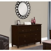 Simpli Home Carlton Bedroom Dresser in Tobacco Brown (3AXCCRL-12)
