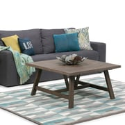 Simpli Home Dylan Square Coffee Table in Driftwood (3AXCDLN-02)