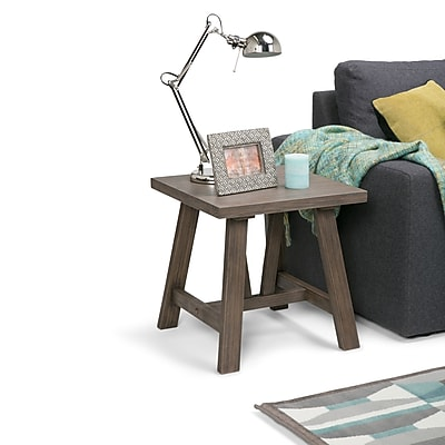 Simpli Home Dylan End Side Table in Driftwood (3AXCDLN-03)