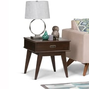 Simpli Home Draper Mid Century End Table in Medium Auburn Brown (3AXCDRP-02)