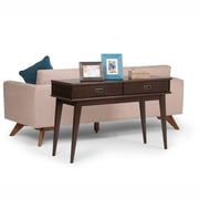 Simpli Home Draper Mid Century Console Sofa Table in Medium Auburn Brown (3AXCDRP-03)