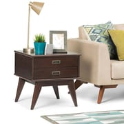 Simpli Home Draper Mid Century Side Table in Medium Auburn Brown (3AXCDRP-04)
