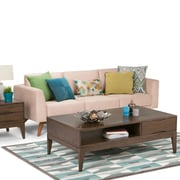 Simpli Home Harper Coffee Table in Walnut Brown (3AXCHRP-01)