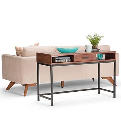 Simpli Home Riordan Console Sofa Table in Russet Brown (3AXCRDN-03)