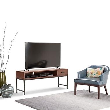 Simpli Home Riordan TV Media Stand in Russet Brown (3AXCRDN-05)