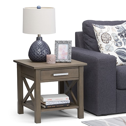 Furniture Stores In Kitchener Waterloo: Simpli Home Kitchener End Side Table In Farmhouse Grey