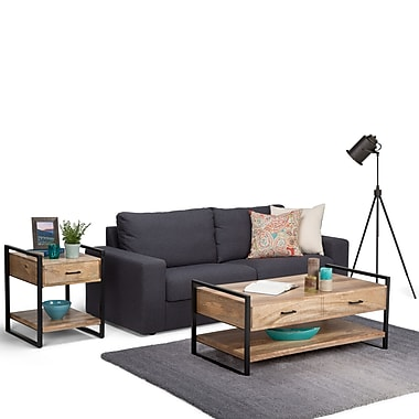 Simpli Home Riverside Coffee Table in Natural (3AXCRIV-01)