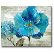 Blue Poppy Poem II Wall Art