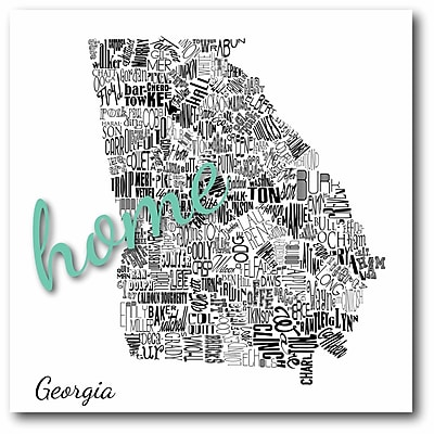 Home Georgia Canvas Wall Art