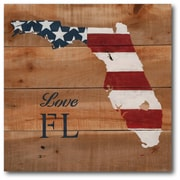 Love Florida Canvas Wall Art