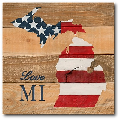 Love Michigan Canvas Wall Art