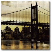 City Metallic In Gold Canvas Wall Art