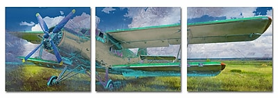 Blue Sky Plane Multiple Canvas Wall Art