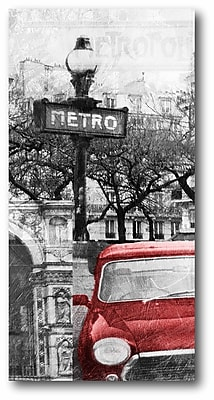 Paris Metro Wrapped Canvas