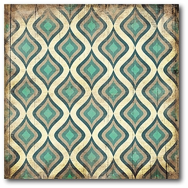Teal & Tan Geo Wall Art