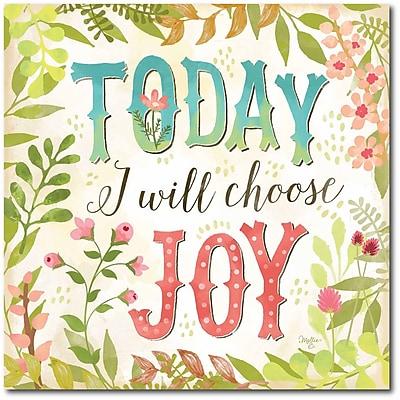 Today I will choose Joy Canvas Wall Art