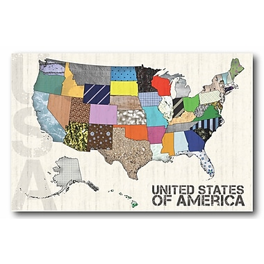 United States of America' Wrapped Canvas