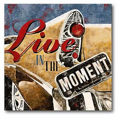 Live thr Moment Canvas Wall Art