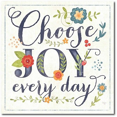 Choose joy Canvas Wall Art
