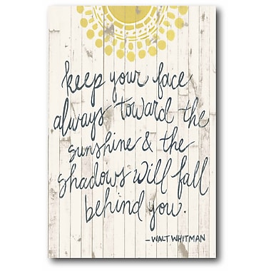 Sun Quote III Wall Art