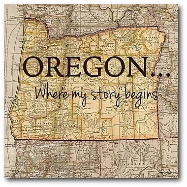 Story Oregon Wall Art