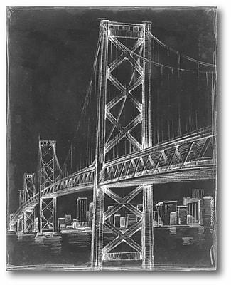 Suspension Bridge Blueprint II Wall Art