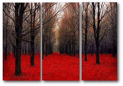 Red Trees Multiple Canvas Wall Art