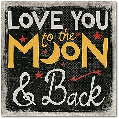 Love you to the moon and back I Canvas Wall Art