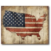 USA Flag Wood Wall Art