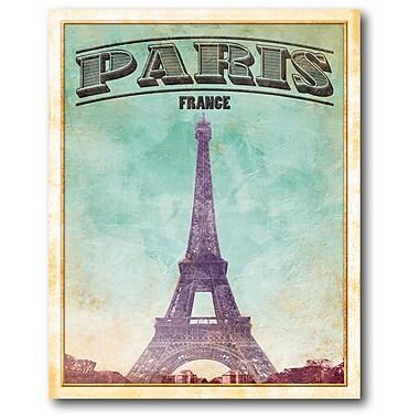 Paris II Wrapped Canvas