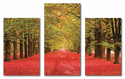 Autumn Lane Multple Canvas Wall Art