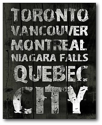 Quebec City Wrapped Canvas