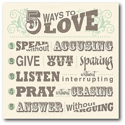 5 Way to Love Canvas Wall Art