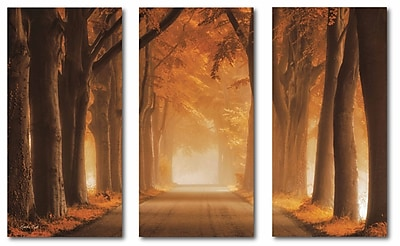Misty Fall Morning Multiple Canvas Wall Art