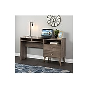 """Prepac Milo 55"""" Desk with Side Storage and 2 Drawers, Drifted Gray (DEHR-1413-1)"""