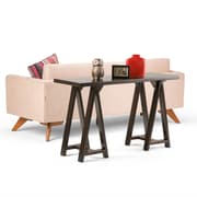 Simpli Home Sawhorse Console Sofa Table in Dark Chestnut Brown (3AXCSAW-03-BR)