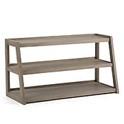Simpli Home Sawhorse TV Media Stand in Distressed Grey (3AXCSAW-04-GR)