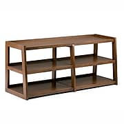 Simpli Home Sawhorse Wide TV Media Stand in Medium Saddle Brown (3AXCSAW-04W)