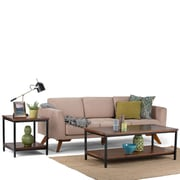 Simpli Home Skyler Coffee Table in Dark Cognac Brown (3AXCSKY-01)