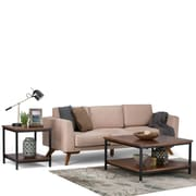 Simpli Home Skyler Square Coffee Table in Dark Cognac Brown (3AXCSKY-02)
