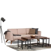 Simpli Home Skyler Nesting 3 Pc Coffee Table in Dark Cognac Brown (3AXCSKY-05)