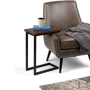 Simpli Home Skyler C Side Table in Dark Cognac Brown (3AXCSKY-09)