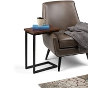 Simpli Home Skyler C Side Table in Dark Cognac Brown (3AXCSKY-09)